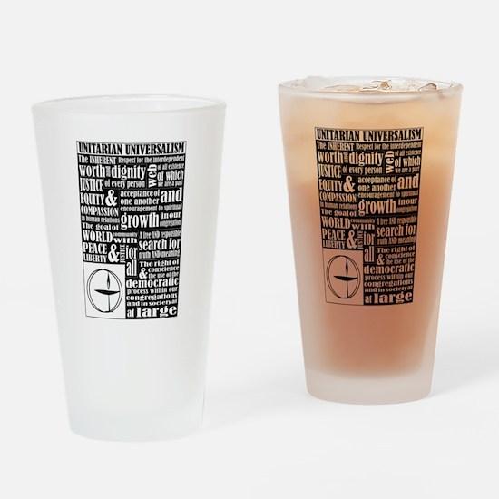 Unitarian Universalist Principles Drinking Glass
