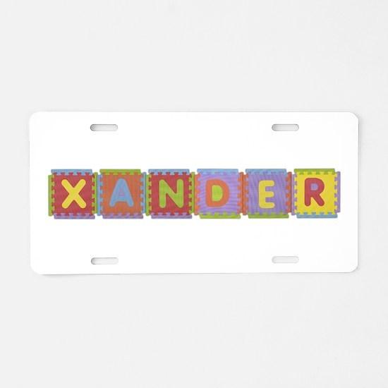 Xander Foam Squares Aluminum License Plate