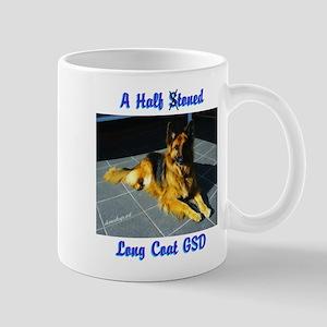 A Half Toned Long Coat GSD Mug