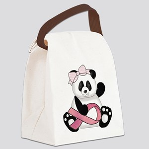 cute breast cancer pink ribbon pa Canvas Lunch Bag