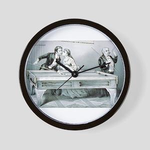 Billiards - A kiss - 1874 Wall Clock