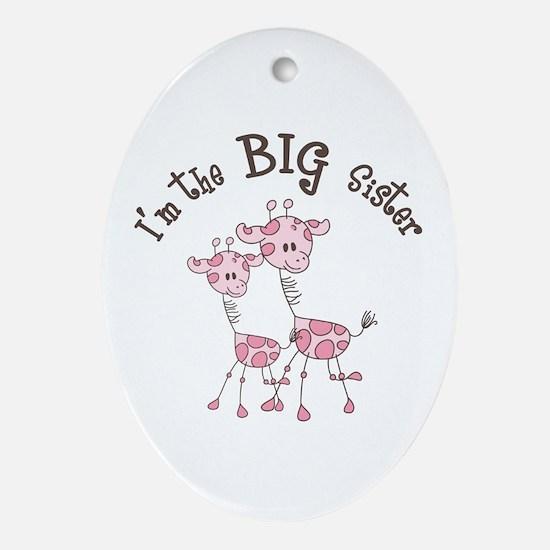 Big Sister Giraffes Ornament (Oval)