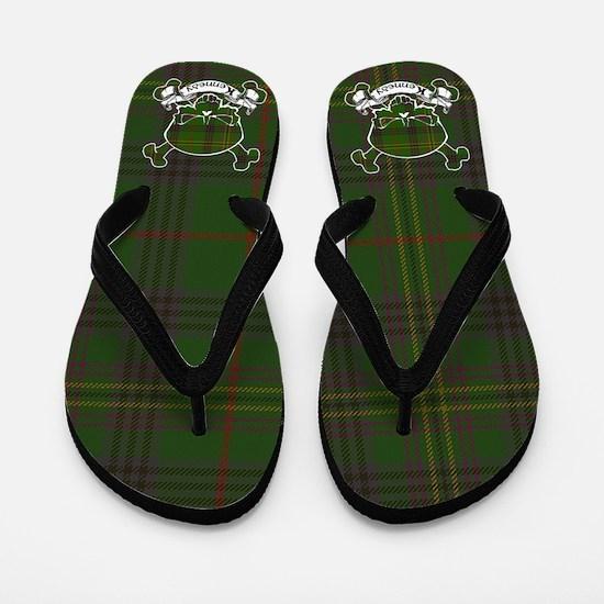 Kennedy Tartan Skull Flip Flops