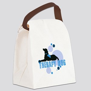 therapbluedogs2 Canvas Lunch Bag
