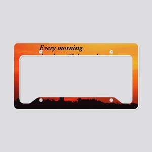 Sunrise in Virginia License Plate Holder