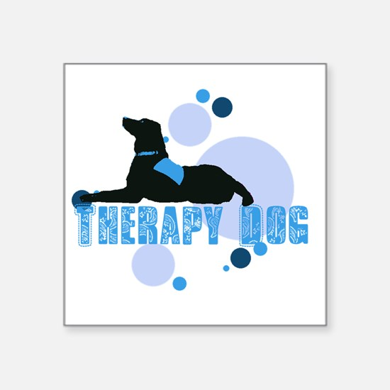 "therapbluedogs2.png Square Sticker 3"" x 3"""