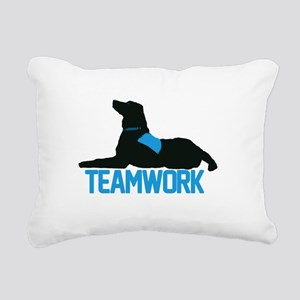 teamwork_blue Rectangular Canvas Pillow