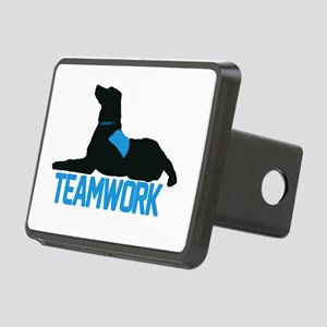 teamwork_blue Rectangular Hitch Cover