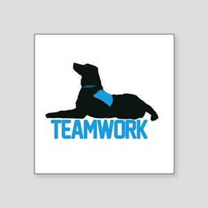 "teamwork_blue Square Sticker 3"" x 3"""