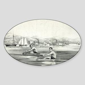 James Hammill, and Walter Brown - 1867 Sticker (Ov