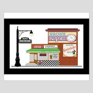 Bronx Soda Shop Small Poster