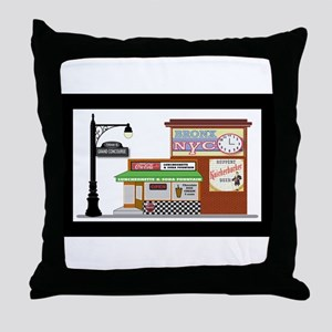 Bronx Soda Shop Throw Pillow