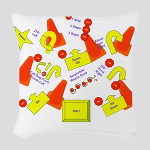 lotsofsigns2 Woven Throw Pillow