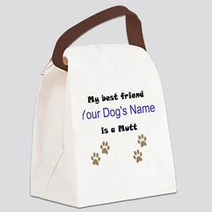 Custom Mutt Best Friend Canvas Lunch Bag