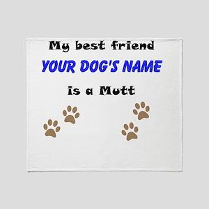 Custom Mutt Best Friend Throw Blanket