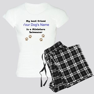 Custom Miniature Schnauzer Best Friend Pajamas