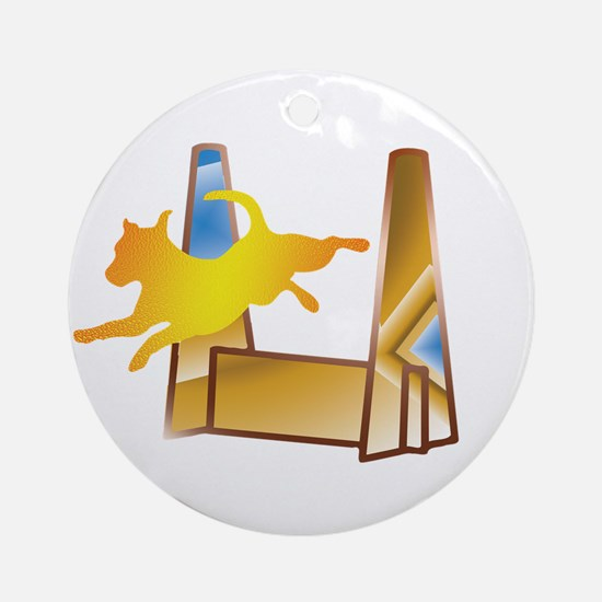 Pop Art Flyball Ornament (Round)