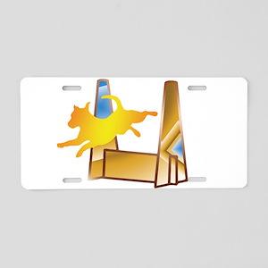 Pop Art Flyball Aluminum License Plate