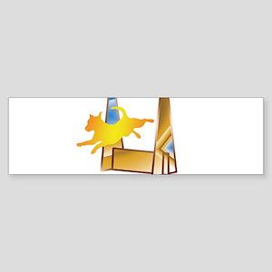 Pop Art Flyball Bumper Sticker