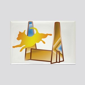 Pop Art Flyball Rectangle Magnet