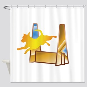 Pop Art Flyball Shower Curtain