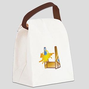 Pop Art Flyball Canvas Lunch Bag