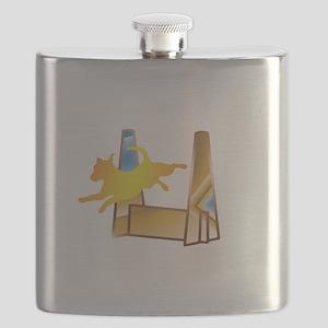 Pop Art Flyball Flask