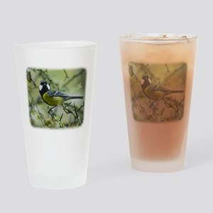 Great Tit 9P52D-120 Drinking Glass