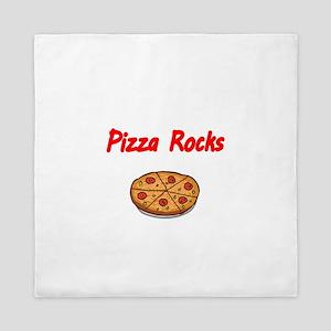 PIZZA ROCKS Queen Duvet