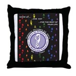 March on Springfield--Show Up Poster Throw Pillow