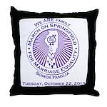 March on Springfield Purple Main Logo Throw Pillow
