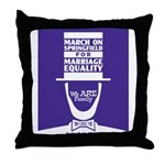 March on Springfield Marriage Poster-Lincoln Throw