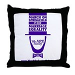 March on Springfield Lincoln - Purple Throw Pillow