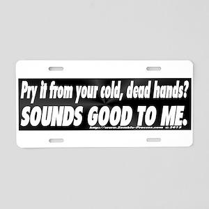 Guns do kill Aluminum License Plate