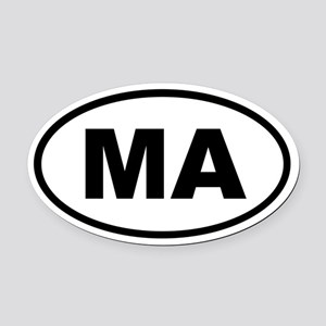 Massachusetts MA Oval Car Magnet