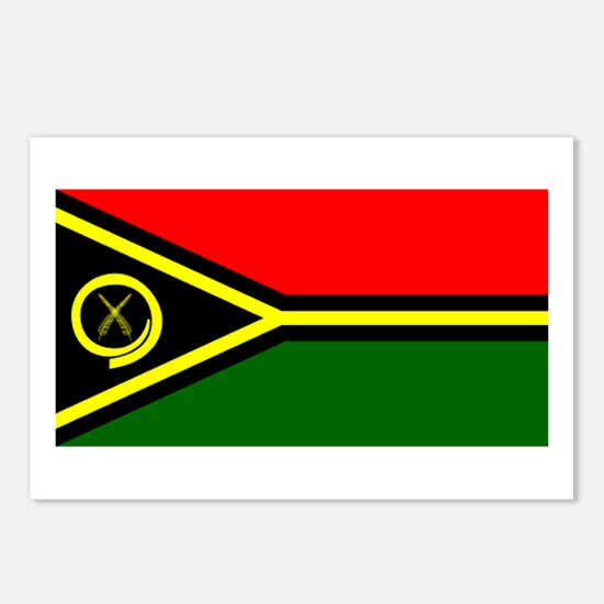 Vanuatu Blank Flag Postcards (Package of 8)