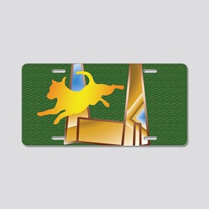 Pop Art Flyball on the Gree Aluminum License Plate