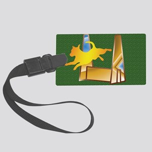 Pop Art Flyball on the Green Large Luggage Tag