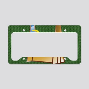 Pop Art Flyball on the Green License Plate Holder