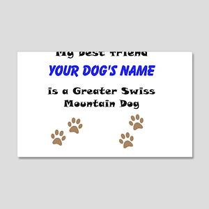 Custom Greater Swiss Mountain Dog Best Friend Wall
