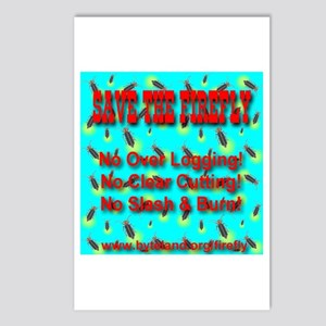 Save The Firefly No Over Logg Postcards (Package o