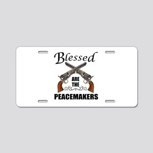 Blessed Are The Peacekeepers Aluminum License Plat