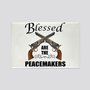 Blessed Are The Peacekeepers Rectangle Magnet
