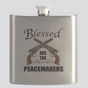 Blessed Are The Peacekeepers Flask