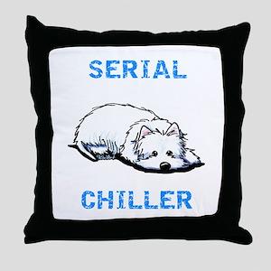Westie Serial Chiller Throw Pillow