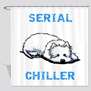 Westie Serial Chiller Shower Curtain