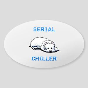 Westie Serial Chiller Sticker (Oval)