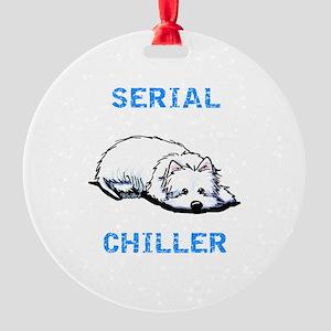 Westie Serial Chiller Round Ornament