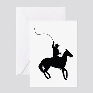 Horseman with Whip Greeting Card