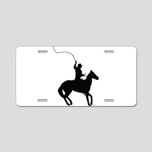 Horseman with Whip Aluminum License Plate